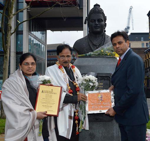 A tribute to Basaveshwara by Hon Home Minister of Karnataka